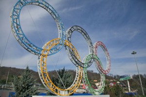 Olympic Rings at the Sochi 2014 Olympic Winter Games