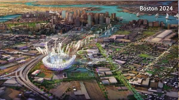 Boston 2024 Olympic Bid Depiction (Source: Boston 2024)