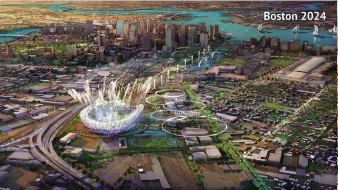 Boston 2024 Olympic Bid Depiction (Source: Boston 2024)
