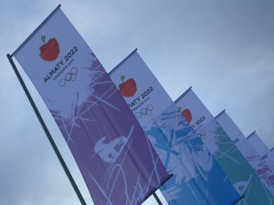 Almaty 2022 Banners Over Proposed Venue (GamesBids Photo)