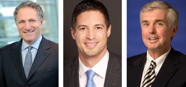 (L-R) Daniel Doctoroff, Steve Mesler and Kevin White were announced today as the three new United States Olympic Committee board members.