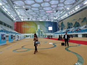 "The Beijing ""Water Cube"" National Aquatics Centre in Legacy Mode (GamesBids Photo)"