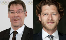 Bernhard Schwank (left) and Nikolas Hill chosen to lead the Bid Committee for the Olympic and Paralympic Games in 2024 in Hamburg. (DOSB Photo)