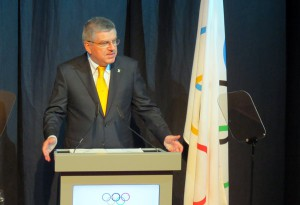 IOC President Thomas Bach speaks at Opening Ceremony of 128th IOC Session in Kuala Lumpur (GamesBids Photo)