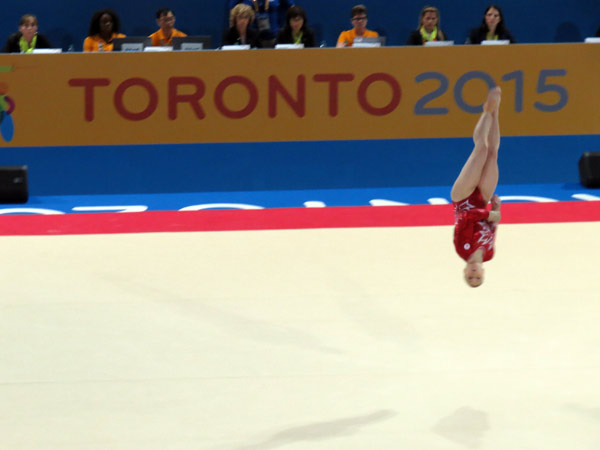 Canadian Gymnast Ellie Black Performs at Toronto 2015 Pan Am Games (GamesBids Photo)