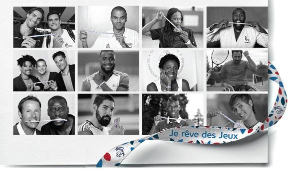 Promotion for Je rêve des Jeux campaign of Paris 2024