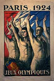 A poster promotes Paris 1924 Olympic Games