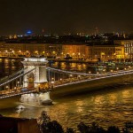 Bridge crossing Danube River in Budapest, Hungary (Wikipedia Photo)