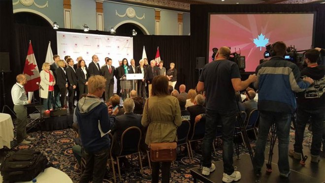 Canadian Olympic Committee President Tricia Smith Addresses Press April 17, 2016 (COC Photo)