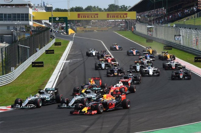 On the Hungaroring at the Hungarian Grand Prix (Formula 1 Twitter Photo)