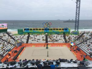 Olympic Beach Volleyball Arena at Rio's Iconic Copacabana Beach (GamesBids Photo)