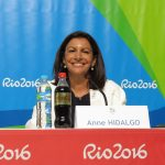 Paris Mayor Anne Hidalgo supporting her city's 2024 bid at Rio 2016 (GamesBids Photo)