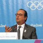 French President François Hollande speaks a Rio 2016 Olympic Games (GamesBids Photo)