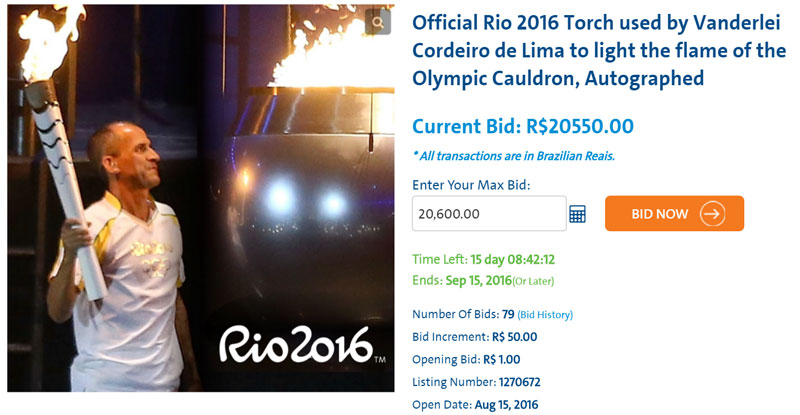 Own A Baton From Bolt's Final Relay Or The Torch That Lit The Rio 2016 Olympic Cauldron – Yes, You