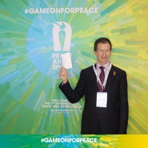 LA 2024 CEO Gene Sykes attends the Peace and Sport Conference in Monaco (LA 2024 Photo)