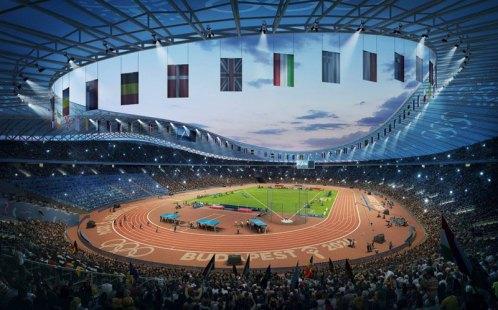 Proposed Budapest 2024 Olympic Stadium (Budapest 2024 depiction)