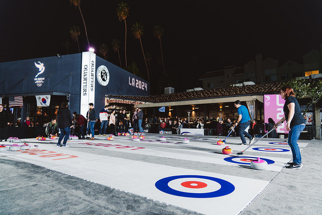 LA 2024 Marks One-Year To PyeongChang Milestone With Curling and Karaoke