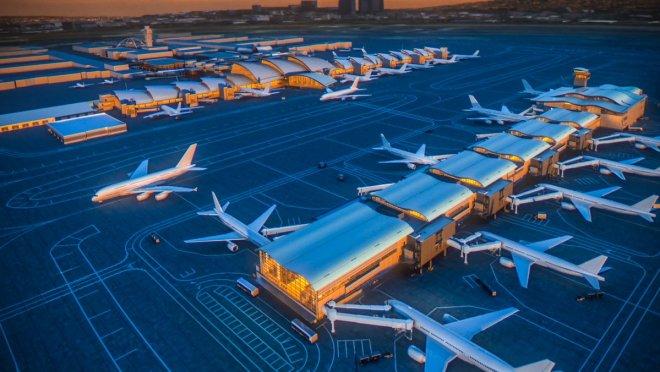 Depiction of $1.6 billion LAX airport expansion (LA 2024 Photo)