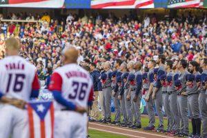 The WBSC World Baseball Classic final was held in LA's Dodger Stadium; USA defeated Puerto Rico 8-0 (LA 2024 Photo)