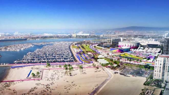 LA 2024 Long Beach Waterfront - Olympic Triathlon and Marathon Swimming; Paralympic Triathlon