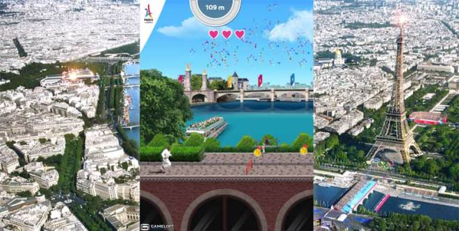 Paris 2024 Run, an online interactive game developed by Gameloft for the Olympic Bid