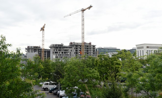 Construction in Saint-Denis adjacent to the property planned to occupy the proposed Olympic Village (Paris 2024 Photo)