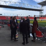 CGF Officials tour BMO Field in Toronto last Wednesday in anticipation of a 2022 Commonwealth Games Bid (CGF Photo)