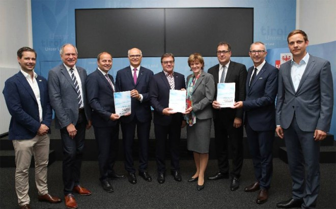 Feasibility study for Innsbruck 2026 presented on June 21, 2017 (Austrian Olympic Committee Photo)