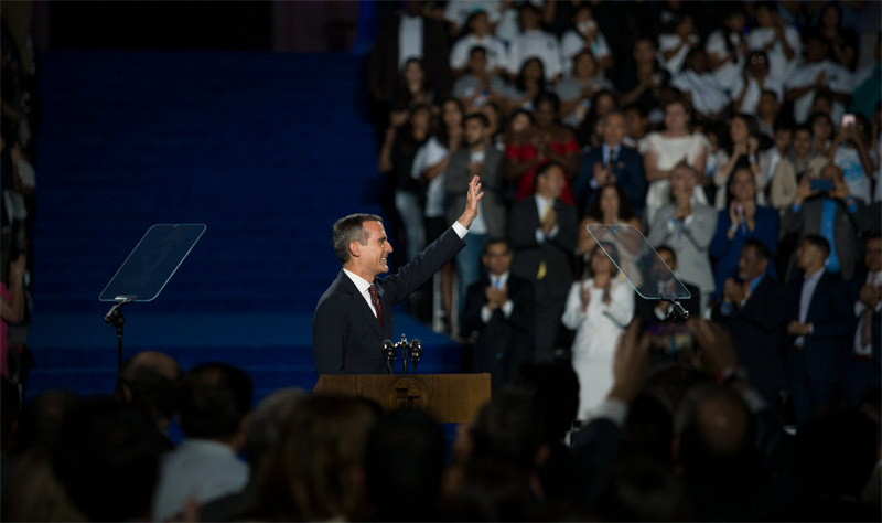 LA Mayor Garcetti Underlines City's Olympic Dream In Inauguration Address