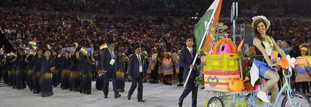 Indian Olympic Team at Rio 2016 (IOA Photo)