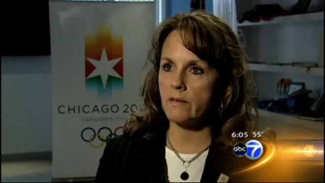 Chicago 2016 President Lori Healy discounts BidIndex on Chicago's ABC Channel 7 (screen capture)