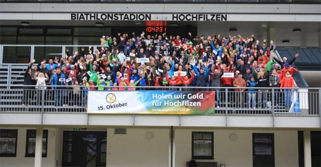 Citizens promote a 'yes' vote for Innsbruck 2026 referendum (Innsbruck 2026 Photo)