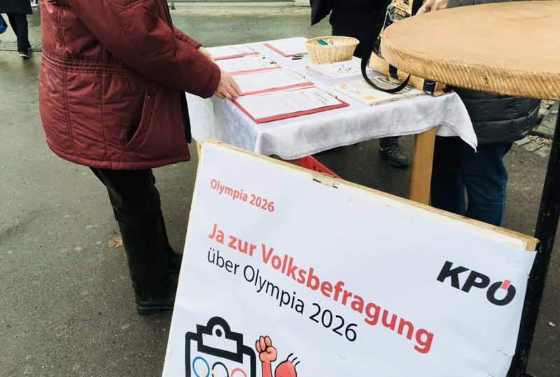 Austrian KPÖ Party Petition Close To Forcing Referendum Over Graz 2026 Olympic Bid
