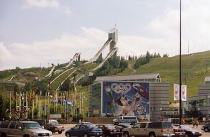 Calgary 1988 Ski Jump facility at Canada Olympic Park circa 2005. The structure will be decommissioned this fall (Wikipedia Photo)