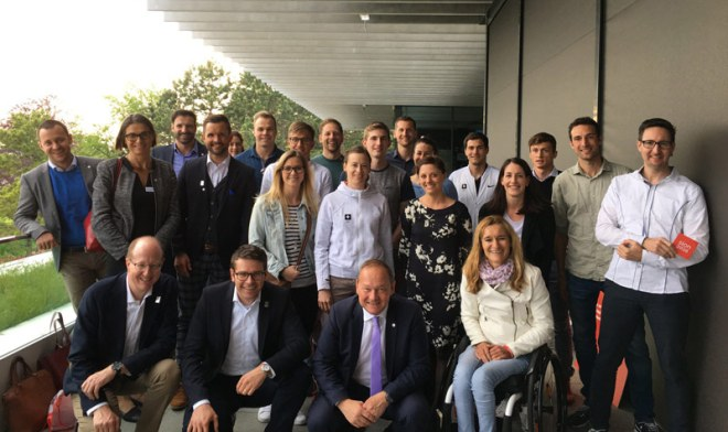 The Sion 2026 Olympic bid project was presented to the Swiss Olympic athletes at the The Olympic Museum in Lausanne, Switzerland (Sion 2026 Photo)
