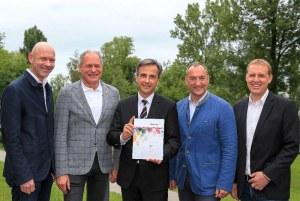 Austrian officials deliver Graz 2026 Winter Olympic Bid feasibility study (OOC Photo)