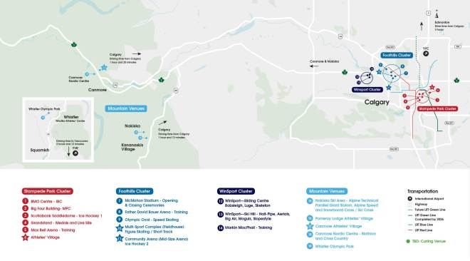 Calgary 2026 Olympic Bid Masterplan (Click to expand)