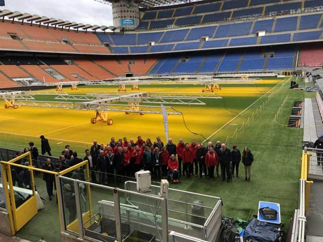 IOC 2026 Olympic bid Evaluation Commission at San Siro Stadium in Milan where the Opening Ceremony is proposed for Milano-Cortina 2026 Olympic bid (GamesBids Photo)