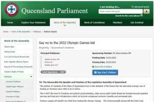 Queensland 2032 Olympic Bid Petition