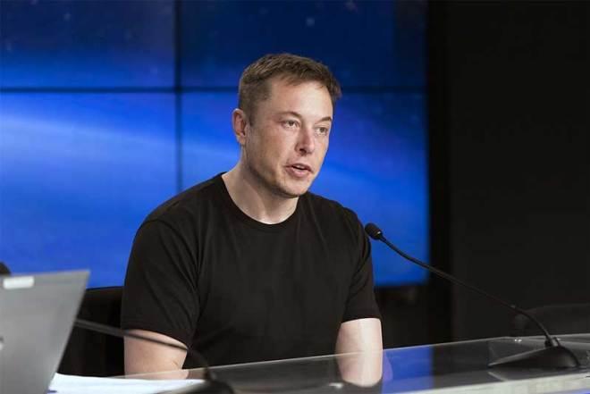 SpaceX CEO Elon Musk, Feb. 6, 2018 (NASA Photo)
