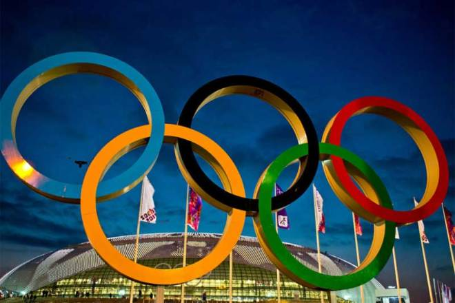 Olympic rings at Sochi 2014 Olympic Winter Games