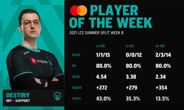 Destiny LCS Player Of The Week: Week 8