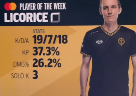 licorice lcs player of the week