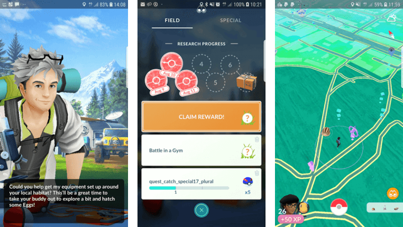 pokemon go field research rewards list
