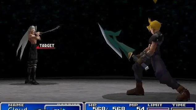Final Sephiroth battle in Final Fantasy 7
