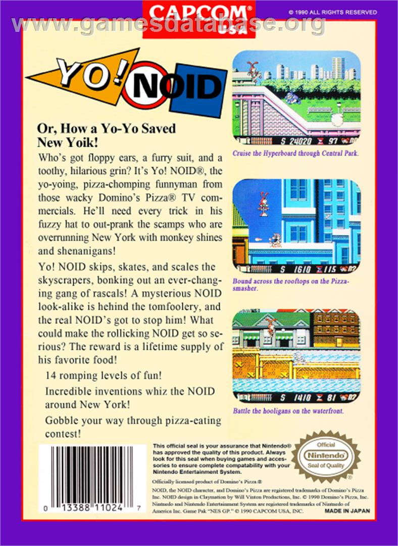 Yo Noid  Nintendo NES  Games Database