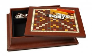 Luxury Leather and Wood Scrabble Board Game