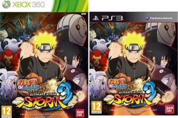Naruto Shippuden: Ultimate Ninja Storm 3 carátula PS3 y Xbox 360