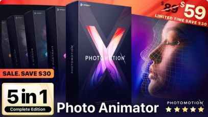 VideoHive Photomotion X – Biggest Photo Animation Toolkit (5 in 1) Free Download