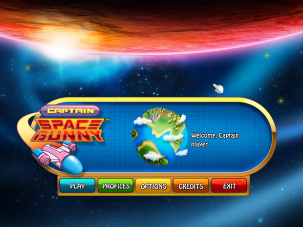 Captain Space Bunny game screen shot 1